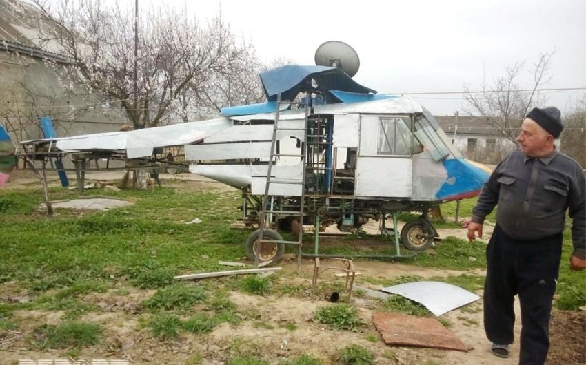 Qusar sakini helikopter hazırlayıb - FOTO - VİDEO