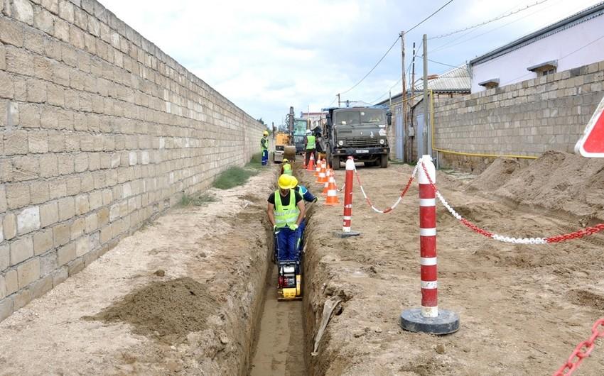 Gəncə şəhərində yeni su anbarı inşa edilib