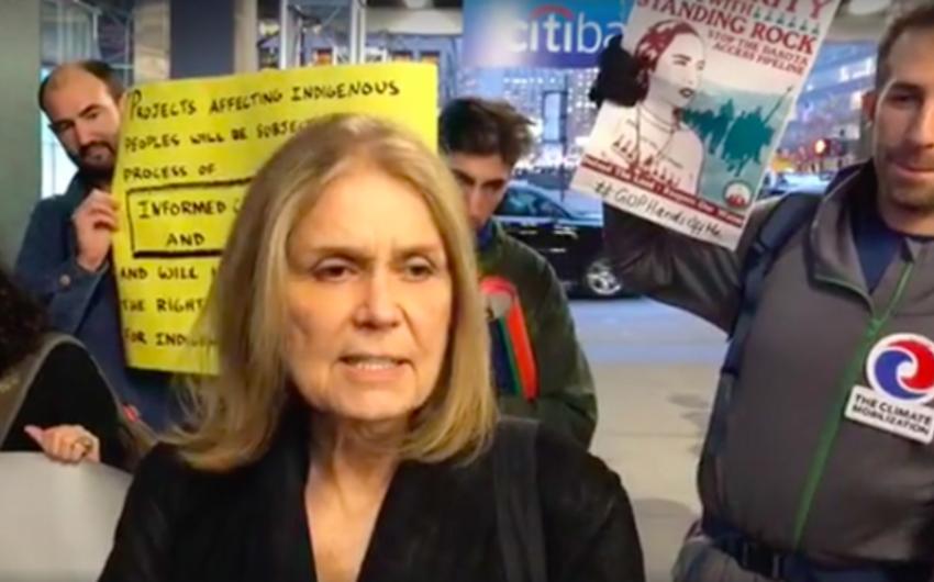 """Feminist neft kəmərinin tikintisinə qarşı etirazlara qoşularaq """"Citibank""""ı boykot etməyə çağırıb"""