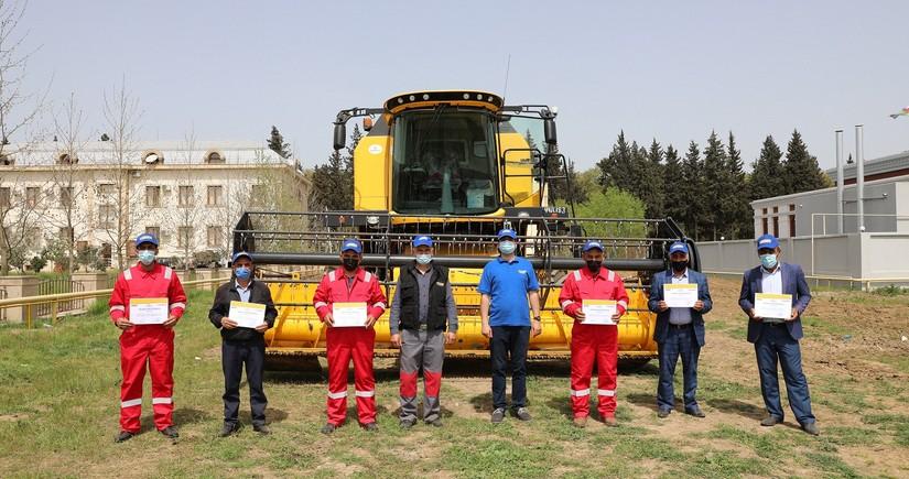 Dağlıq ərazilərdə taxıl biçini aparacaq mexanizatorlar sertifikat alıb
