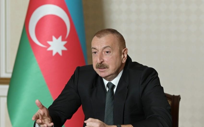 Azərbaycan Prezidenti: Bütün ölkələri Ermənistana silah təchizatından çəkinməyə çağırırıq