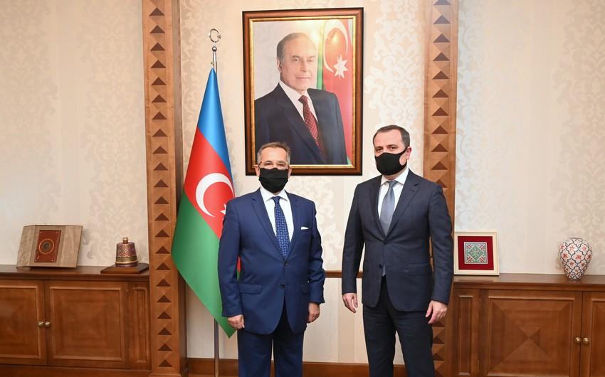Ceyhun Bayramov Yunanıstanın yeni səfiri ilə görüşüb