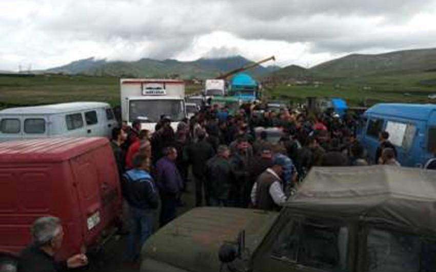 Армянские фермеры провели акцию протеста