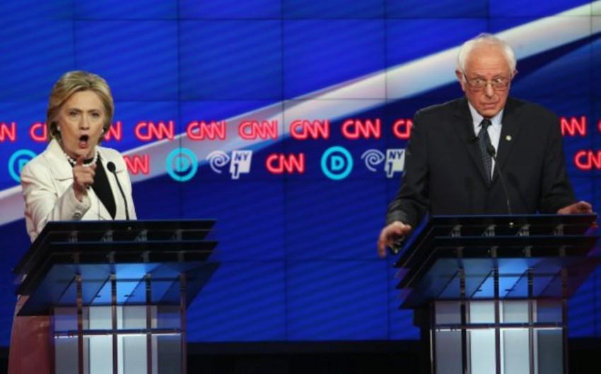 Klinton və Sanders Nyu Yorkda praymerizdən əvvəl sərt müzakirələr aparıb