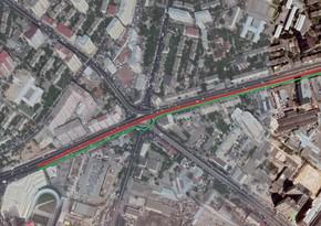 Движение на одном из проспектов Баку ограничивается
