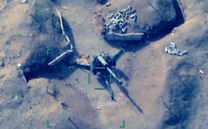 Видеозапись уничтожения артиллерийских установок армян