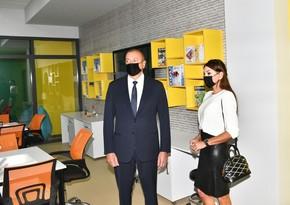 İlham Əliyev və Mehriban Əliyeva Bakı Avropa Liseyinin yeni binasının açılışını ediblər
