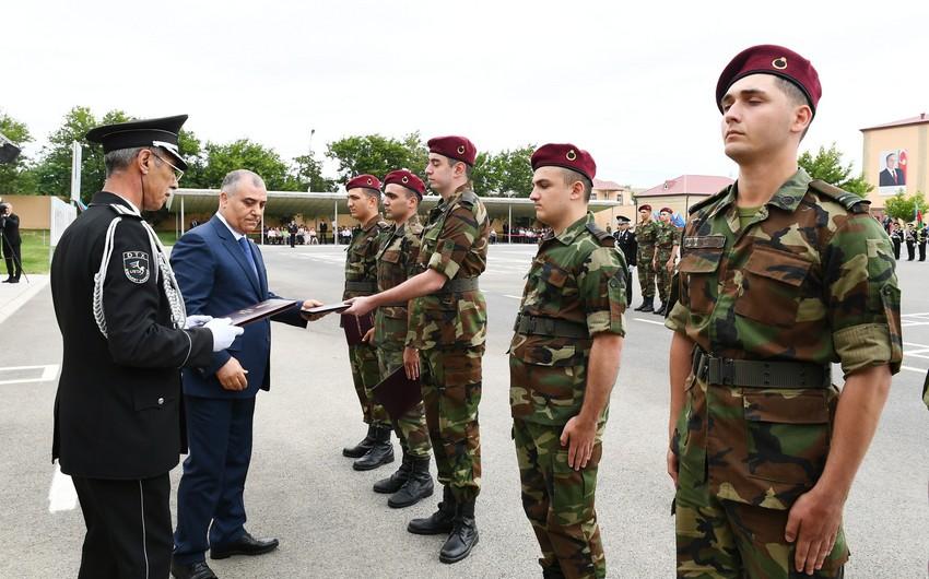 В N-ской воинской части СГБ прошла церемония увольнения в запас военнослужащих срочной действительной военной службы