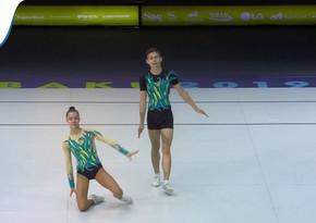Ukraynalı gimnast: Bakıdakı yarışda təşkilatçılıq yüksək səviyyədədir