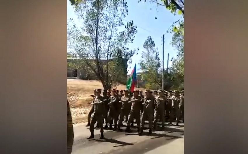 В Шуше прошло военное шествие