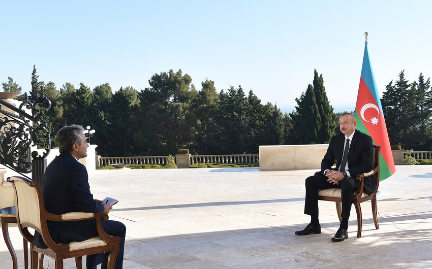 """İlham Əliyevin Türkiyənin """"A Haber"""" televiziya kanalına müsahibəsinin tam mətni"""