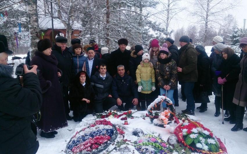 Smolenskdə II Dünya müharibəsi zamanı həlak olmuş Azərbaycan əsgərinin xatirəsi yad edilib