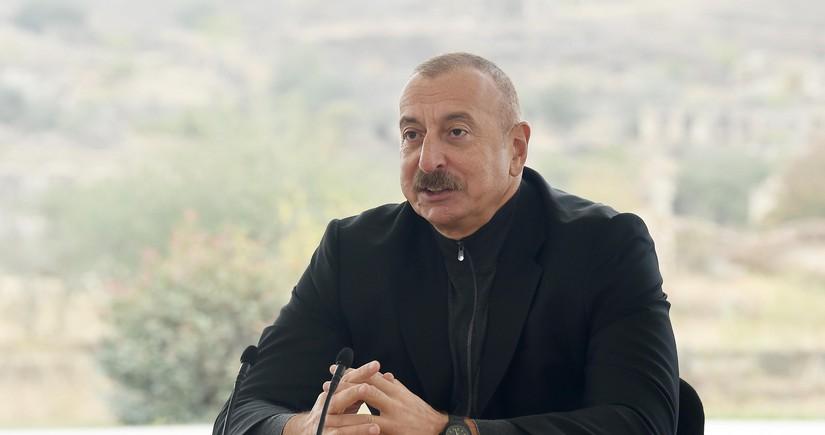 Президент Азербайджана: Мы восстановим город Физули и села Физулинского района