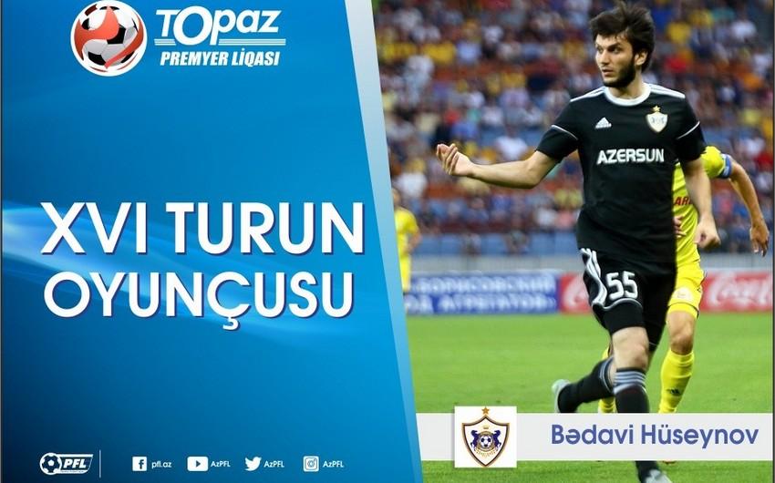 Azərbaycan Premyer Liqasında XVI turunun ən yaxşı futbolçusu bəlli olub