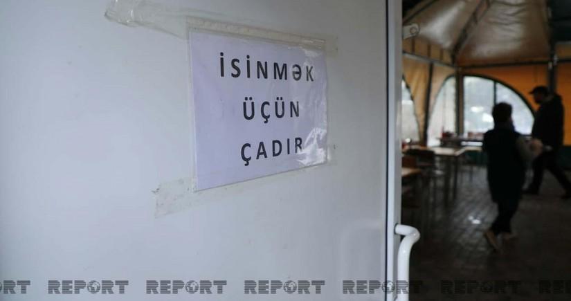 Обнародованы адреса установленных в Баку палаток для обогрева