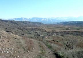 Zəngilanın Genlik kəndinin videogörüntüləri