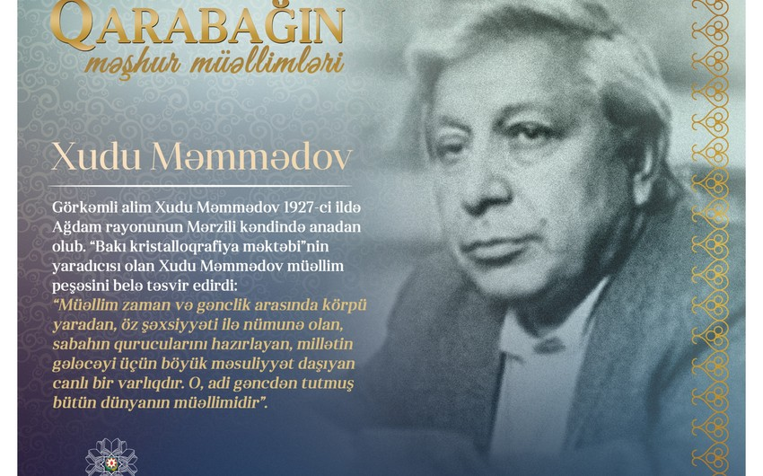 Qarabağın məşhur müəllimləri– Xudu Məmmədov