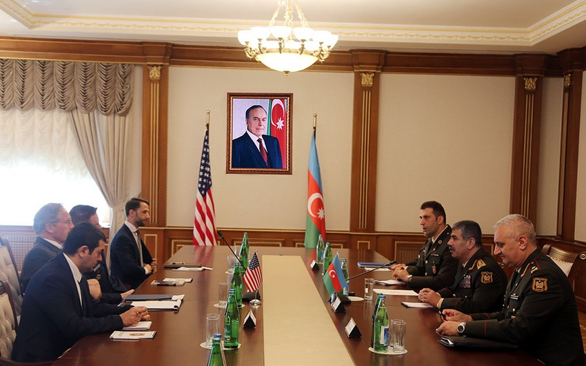 US new military attaché was presented to Azerbaijani Defense Minister