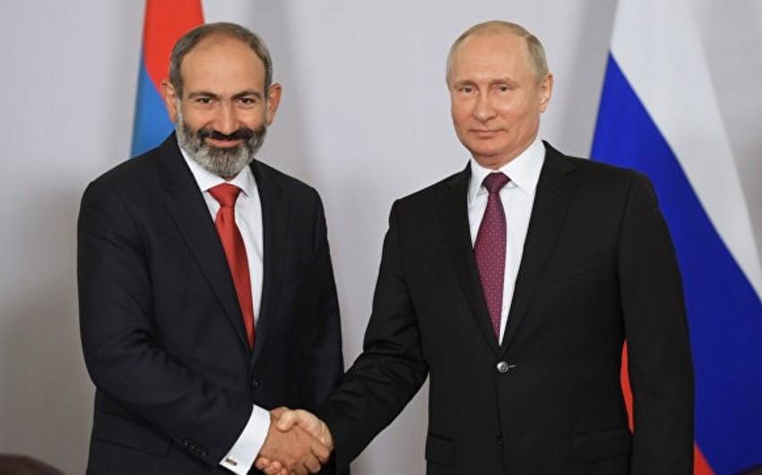 Putin və Paşinyan qarşılıqlı əməkdaşlıq məsələlərini müzakirə ediblər