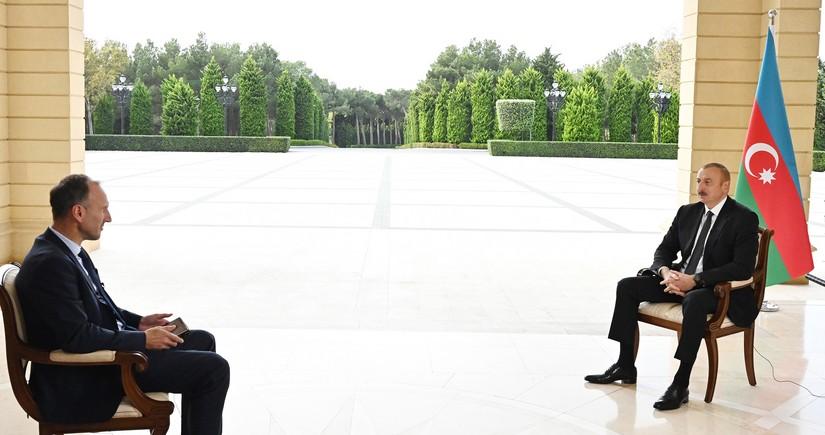 Интервью Президента Ильхама Алиева немецкому телеканалу ARD