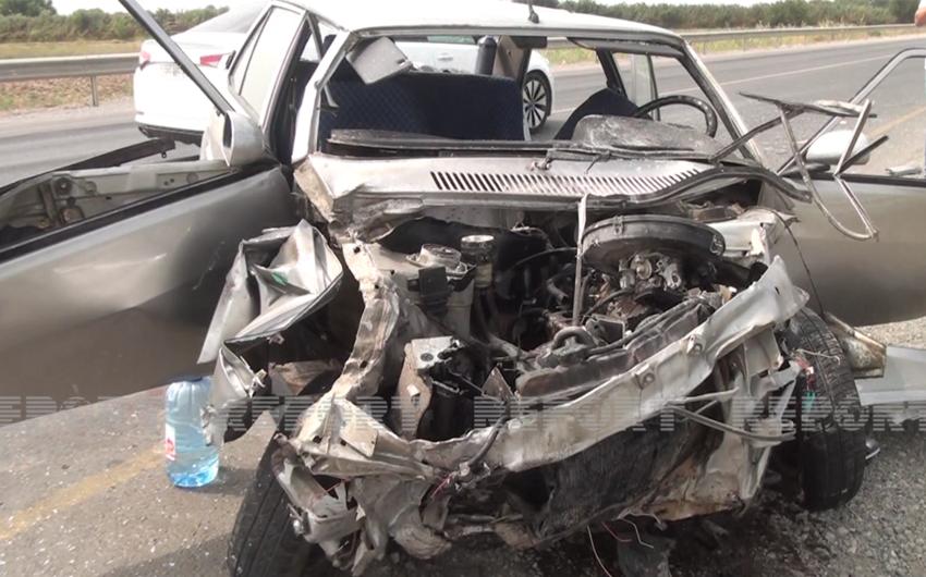 В Сабирабаде произошло ДТП, есть погибший и раненые