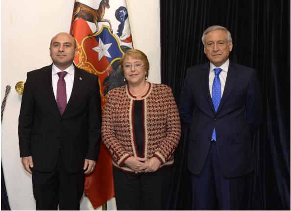 Азербайджанский посол вручил свои верительные грамоты президенту Чили