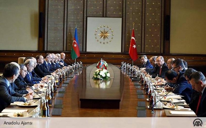 Ankarada Türkiyə-Azərbaycan Yüksək Səviyyəli Strateji Əməkdaşlıq Şurasının V iclası başlayıb