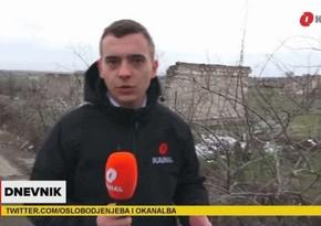 Bosniya və Herseqovinanın O Kanal televiziyası Ağdamdan reportaj hazırlayıb