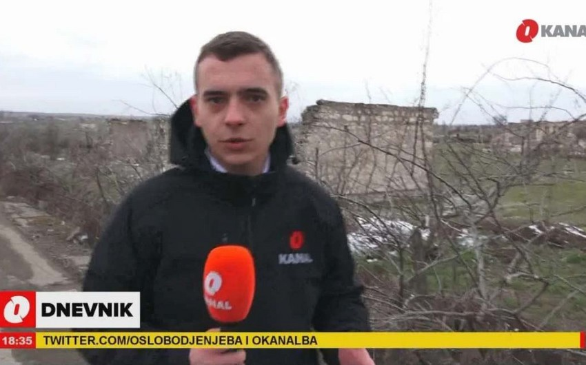 Bosnian channel prepares report from Azerbaijan's Aghdam