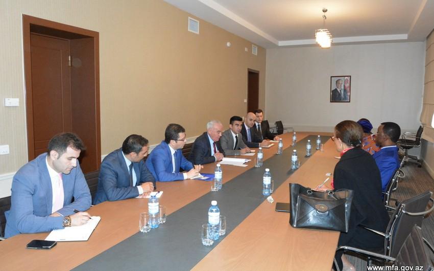 Azərbaycan XİN başçısının müavini Pan-Afrika Parlamentinin prezidenti ilə görüşüb