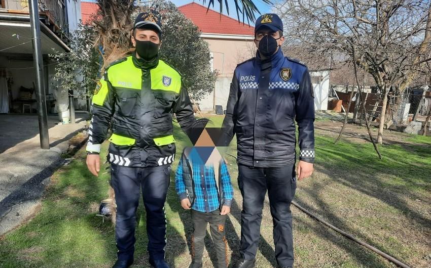 Balakəndə polislər itkin düşən azyaşlını tapdılar