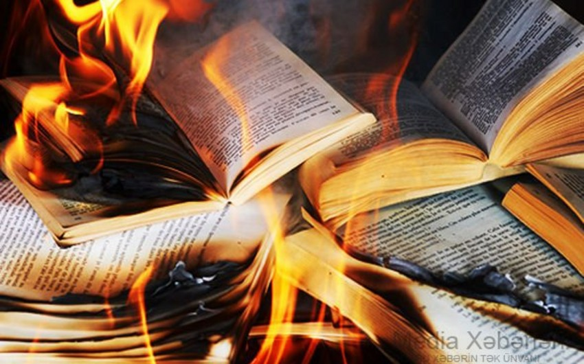 Məktəb kitabxanasında yanğın baş verib