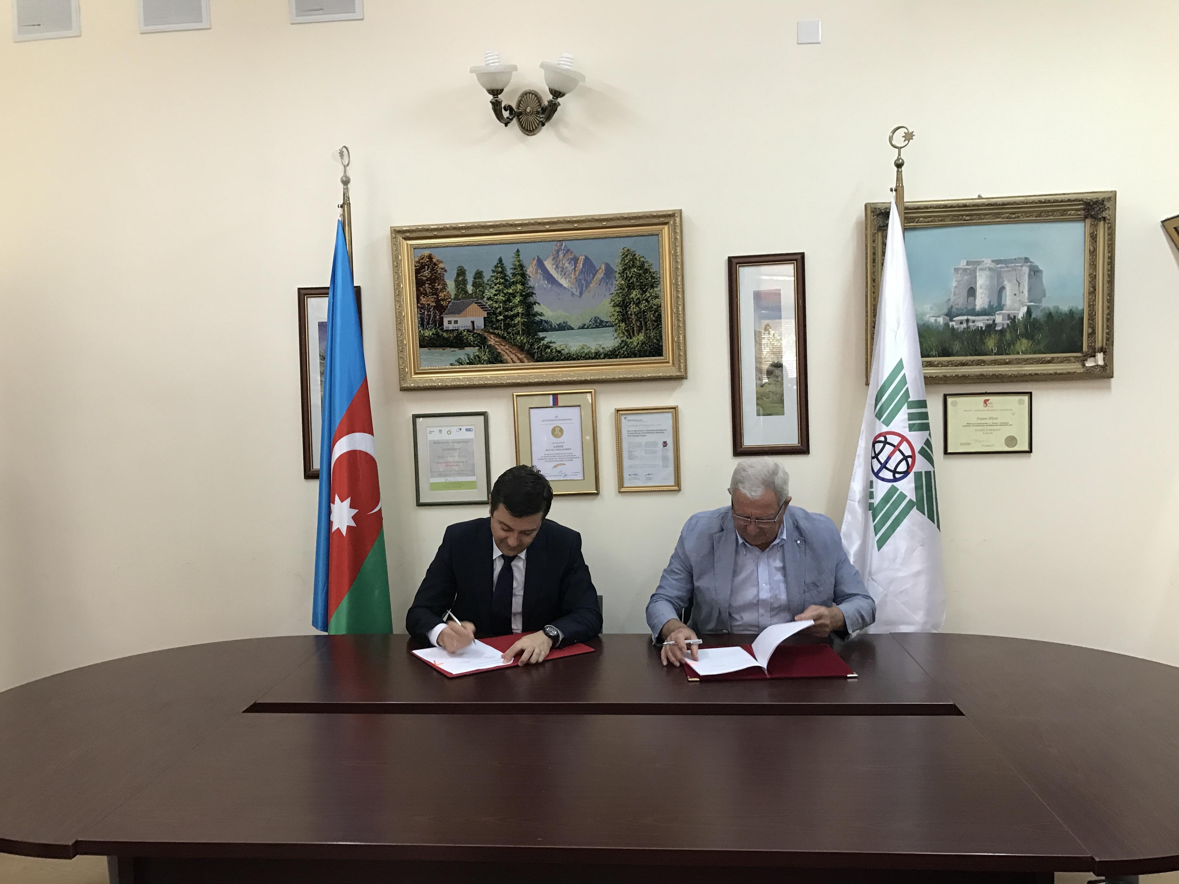 """Beynəlxalq Ekoenergetika Akademiyası ilə """"SOCAR Methanol"""" arasında memorandum imzalanıb"""