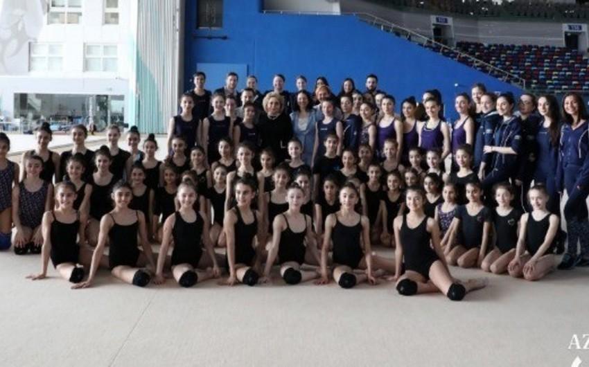 Valentina Matviyenko Milli Gimnastika Arenasında olub