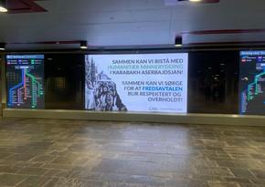 В Осло установили билборды с информацией о карабахских реалиях