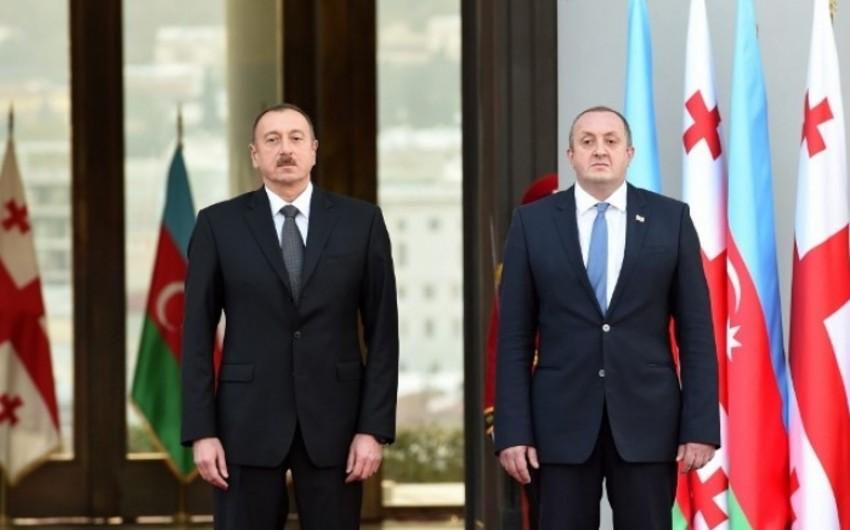 Gürcüstan Prezidenti İlham Əliyevi təbrik edib
