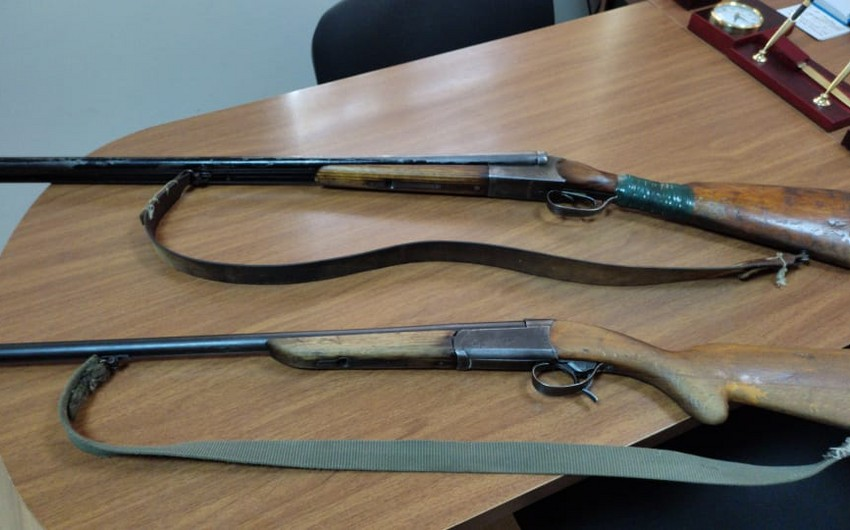 Saatlı sakinində odlu silahlar aşkarlandı