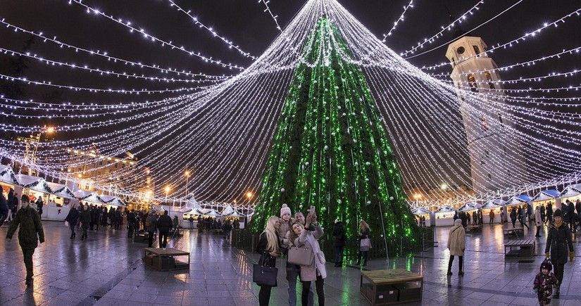 Vilnius Christmas tree named most beautiful in Europe