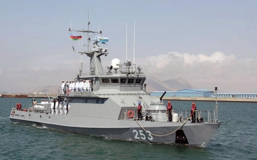 Kazakhstan's warship arrives in Baku - VIDEO