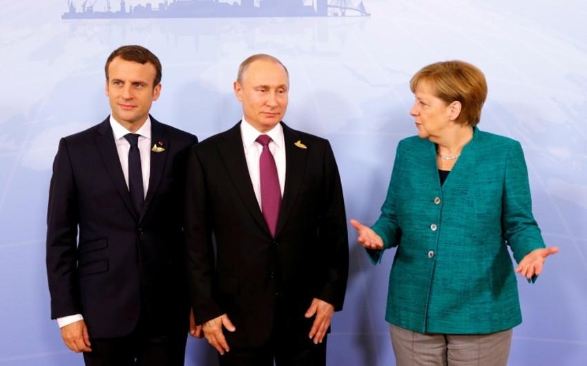 Almaniya, Rusiya və Fransa liderləri görüşüb