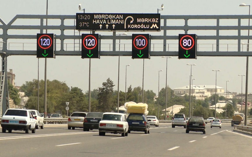 Speed limit in Baku reduced due to rainy weather