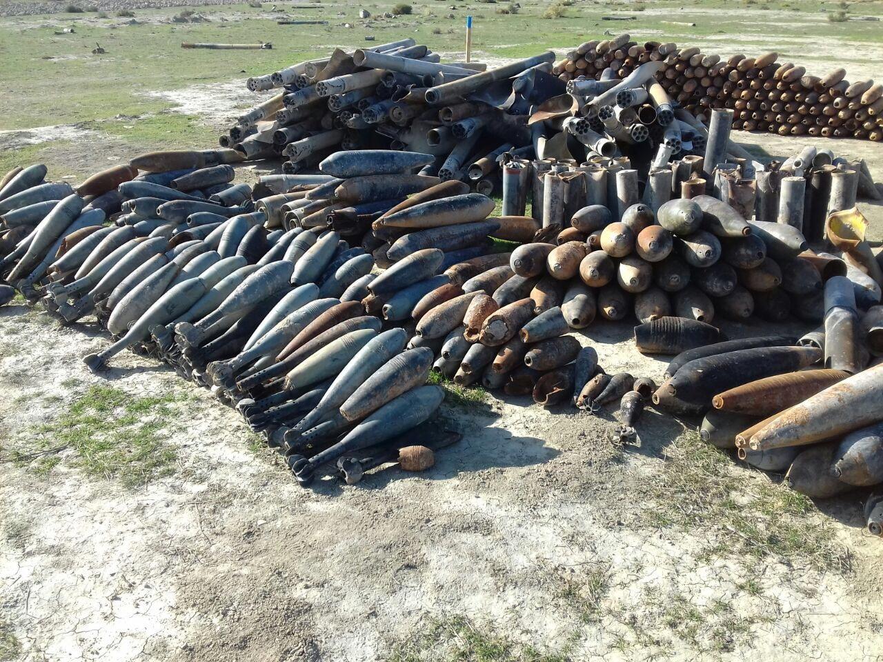 В Хызы обнаружено 176 единиц невзорвавшихся боеприпасов