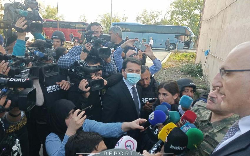 Dövlət rəsmiləri və diplomatlar Tərtərdədir
