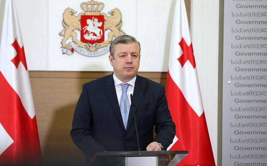 """Baş nazir: """"Gürcüstan Bakı-Tbilisi-Qars dəmir yolunun potensialının artırılması üçün yeni layihələr hazırlayır"""""""