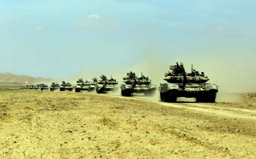 Azerbaijani army launch large-scale drills