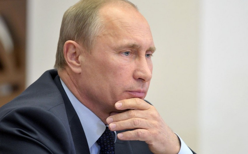 Vladimir Putin: Biz ilk dəfə üç dövlət başçısı səviyyəsində Bakıda toplaşacağıq