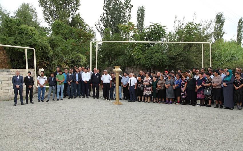 Ağdaşın Yenicə kəndi qazlaşdırılıb - VİDEO