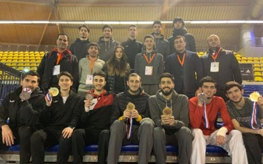 Azərbaycan taekvondoçuları Niderlandda 7 medal qazandı