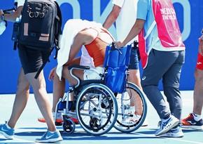 Tokio-2020: İspaniyalı tennisçi kortu əlil arabasında tərk edib