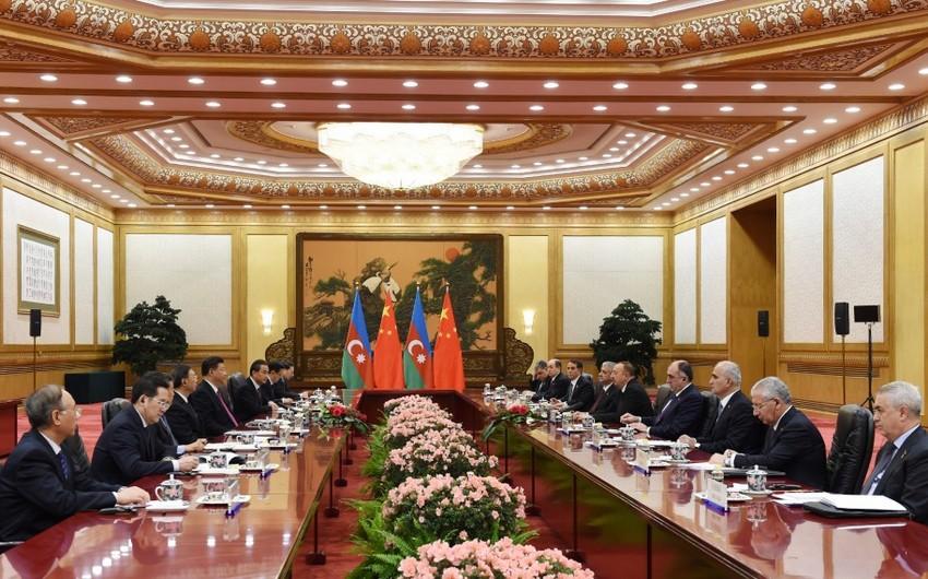 Prezident İlham Əliyev: Azərbaycanın Çin və Avropa arasında mühüm tranzit dəhlizi rolunu oynaması üçün yaxşı potensial var